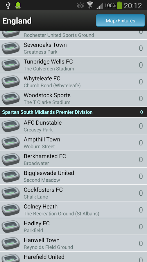 Groundhopper - Live Football- screenshot
