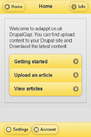 Drupal Phonegap - screenshot
