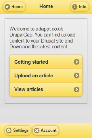 Drupal Phonegap - screenshot