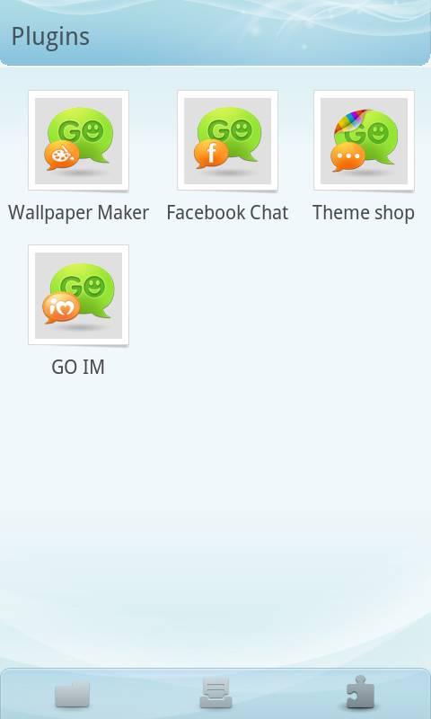 GO SMS Pro Light Blue theme screenshot #3