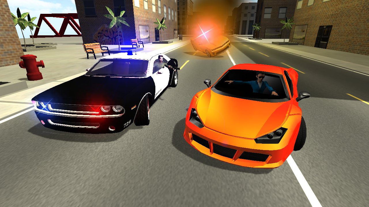 Police car chase 3d android apps on google play for Chaise auto