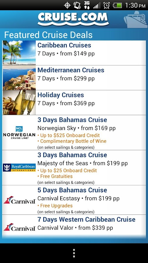 Cruise.com- screenshot