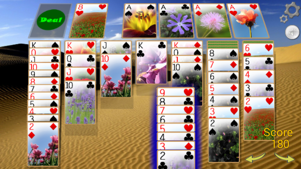 Solitaire 3D (old)- screenshot