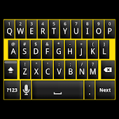 Black and Yellow Keyboard Skin
