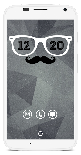 Hipster Clock - UCCW Skin