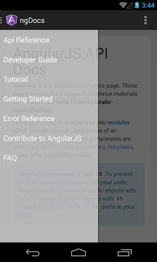 ngDocs - AngularJS Reference