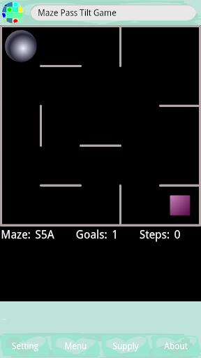 Maze Pass Tilt Game