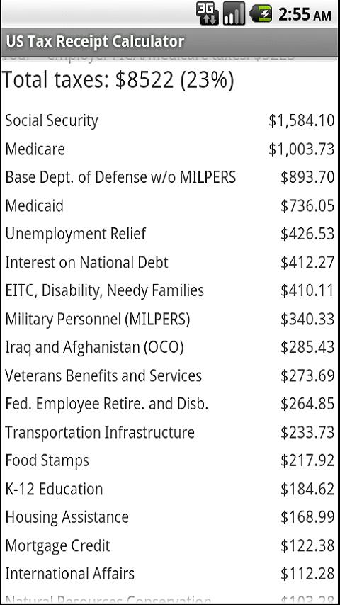 Tax Receipt- screenshot