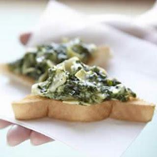 Spinach Artichoke Crostini