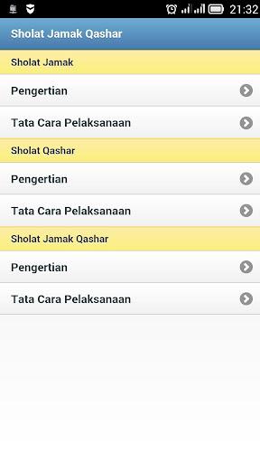 Panduan Sholat Jamak Qashar 1.1 screenshots 6
