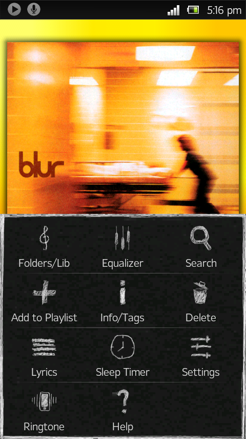 Poweramp Blackboard Skin - screenshot
