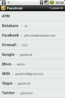 Screenshot of Passdroid