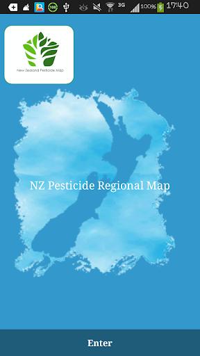New Zealand Pesticide Map