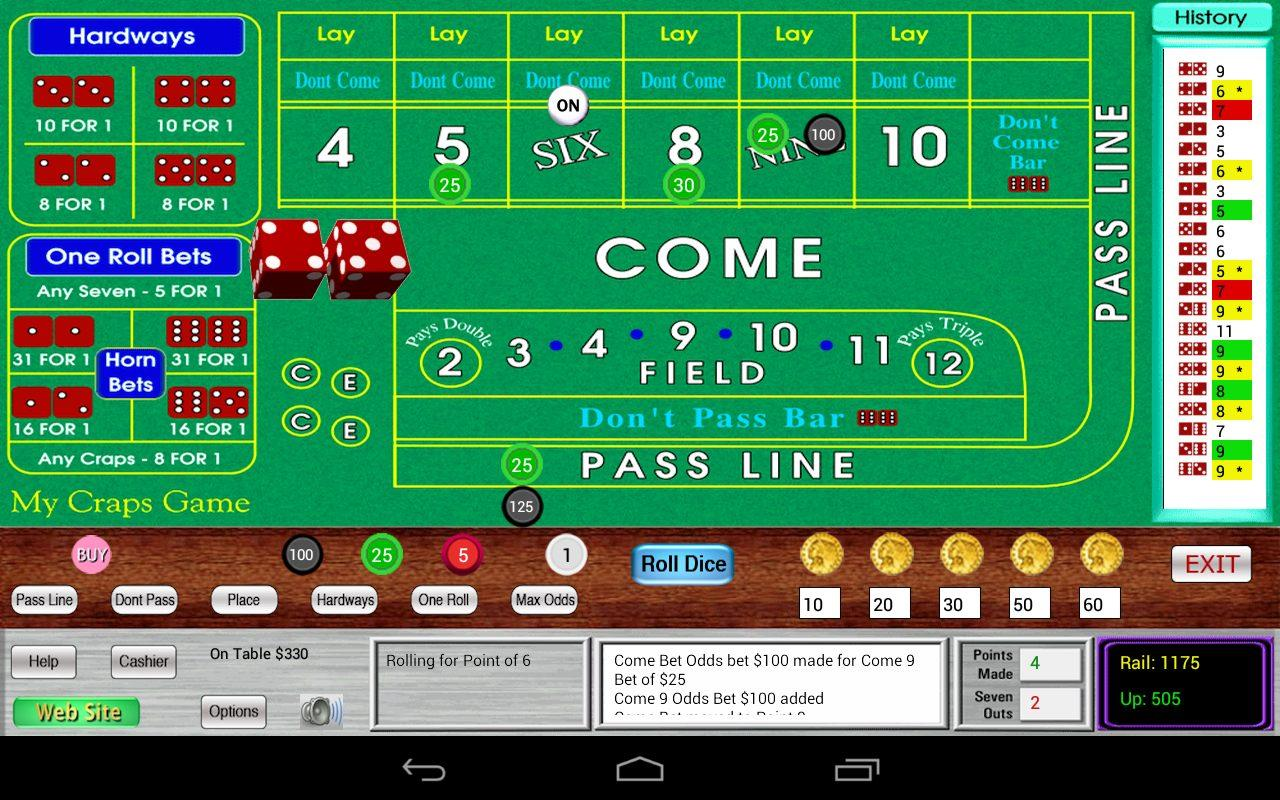 My Craps Game for Nexus 7 - screenshot