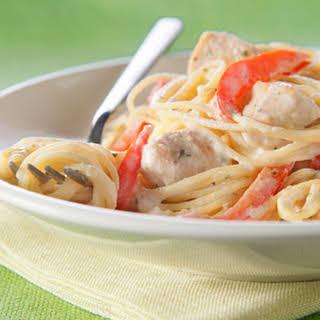 Chicken Alfredo Pesto Pasta.