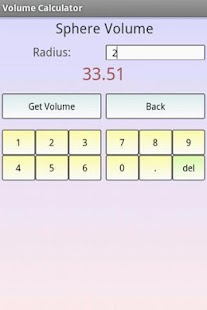 Area and Volume Calculator - screenshot thumbnail