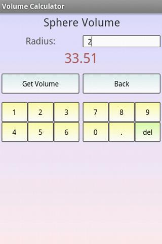 Area and Volume Calculator - screenshot