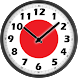 Japan Flag Analog Clock