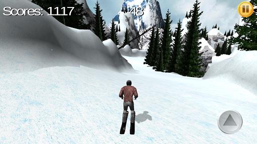 高山滑雪板3D