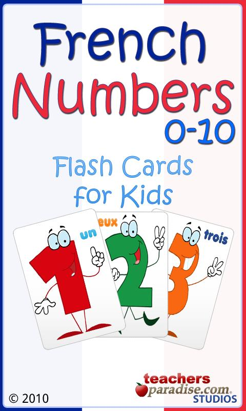 French Numbers 0-10 for Kids- screenshot
