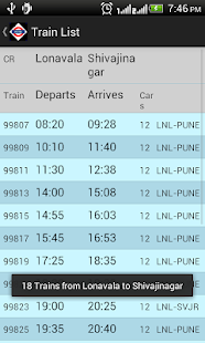 Pune Local Train Timetable- screenshot thumbnail