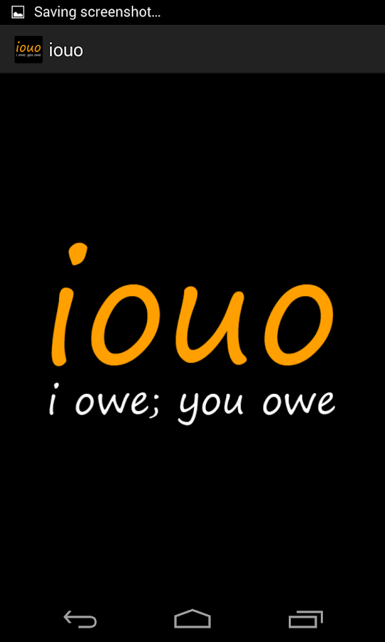 iouo - I owe; you owe - screenshot