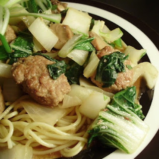 Asian Turkey Meatballs With Bok Choy