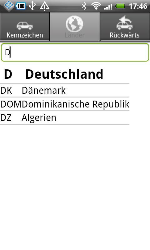 KFZ Kennzeichen D/A/CH/I/PL/F - screenshot