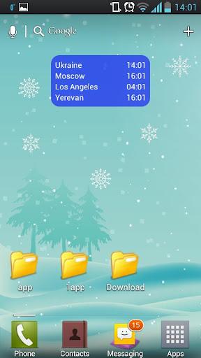 Зима Снежинки живые обои