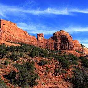 PROUD! by Rhonda Silverton - Landscapes Caves & Formations ( red, layered rock, layers, arizona, rock, sedona,  )