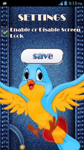 Zipper Screen Lock