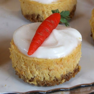 Mini Carrot Cake Cheesecakes with Cream Cheese Icing
