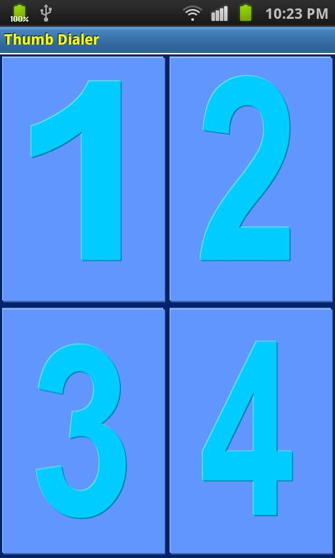 Thumb Dialer - screenshot