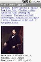 Screenshot of Works of C.H. Spurgeon