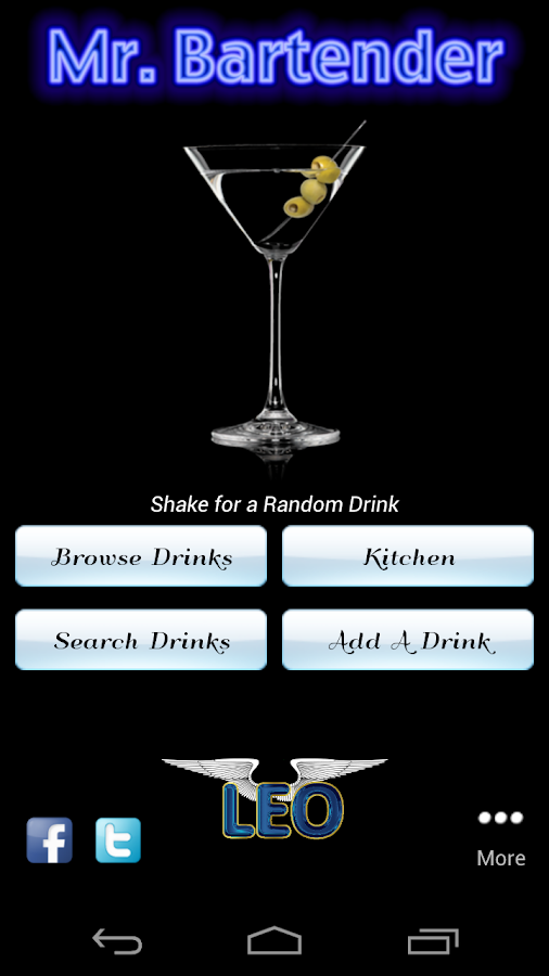 Mr. Bartender Drink Recipes - screenshot