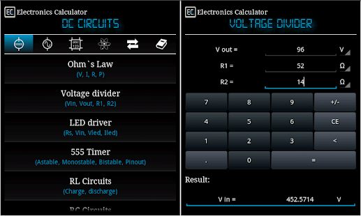 Electronics Calculator- screenshot thumbnail
