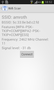 WIFI Scan - screenshot thumbnail