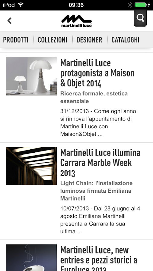 Martinelli Luce- screenshot