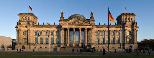 Reichstag-building-Berlin - The Reichstag building in Berlin, seat of the German empire that dates back to 1894, was where Germany's reunification ceremony was held in 1990.