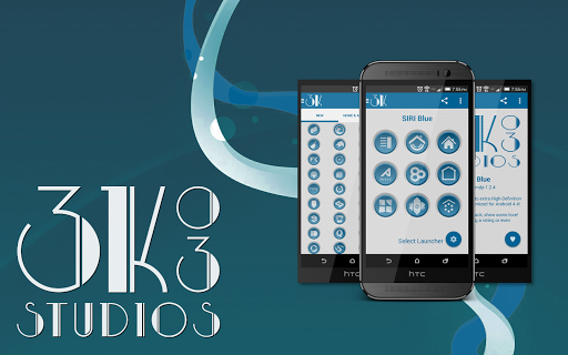 3K SR BLUE - Icon Pack
