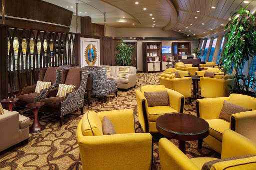 Navigator-of-the-Seas-Diamond-Lounge - Suite and Crown & Anchor Society members can kick back and relax in the Diamond Lounge aboard Navigator of the Seas.
