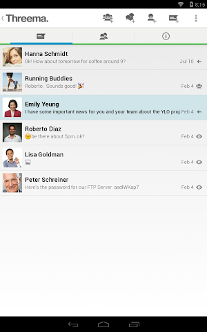 android Threema Screenshot 1