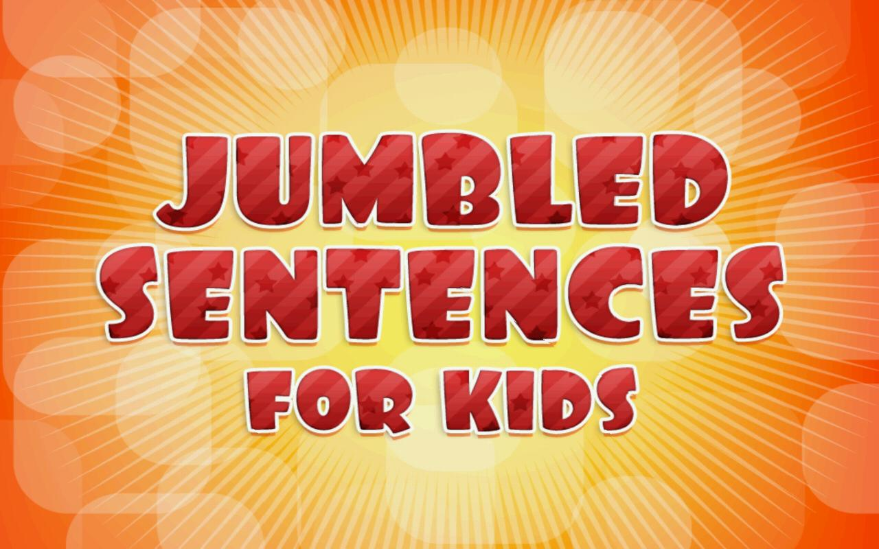 Jumbled Sentences For Kids- screenshot