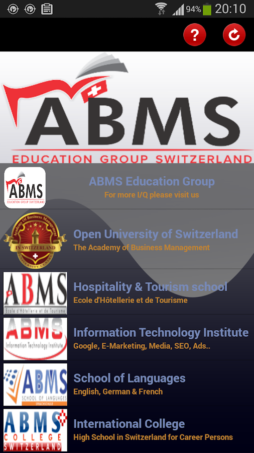 ABMS Education Group- screenshot