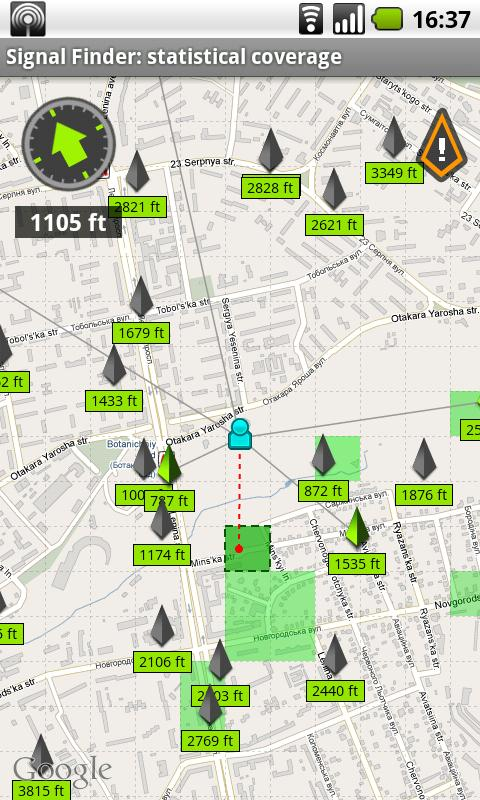 Signal Finder- screenshot