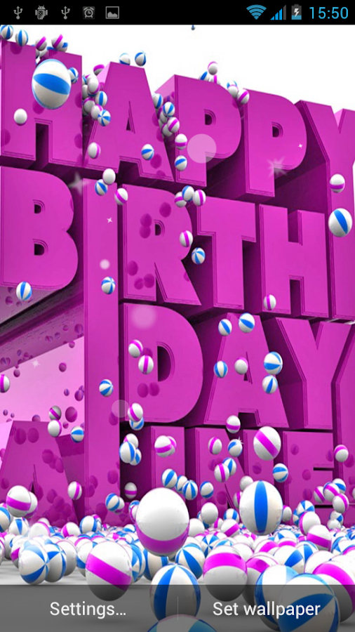 Happy Birthday Live Wallpaper Android Apps on Google Play – Live Birthday Greetings