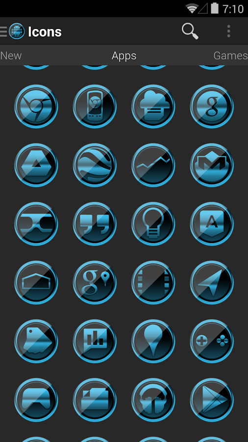 Icon Pack - Platinum ICS - screenshot
