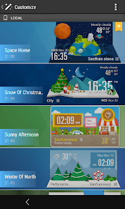 daily weather report clock screenshot 4