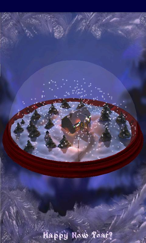 New Years 3D Snow Globe!- screenshot