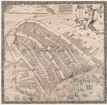 Map of Amsterdam, 1544